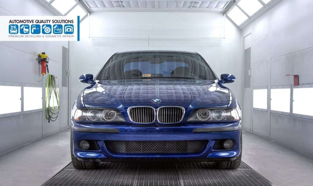 A Blue BMW M5 Detailed and Opti-Coat treated by AQS and D&D Auto Detailing