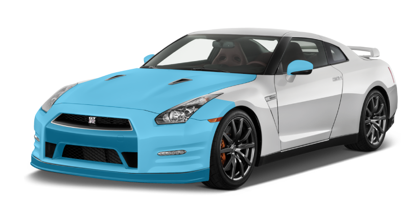 XPEL Coverage - AQS Gold Package on a 2015 Nissan GT-R